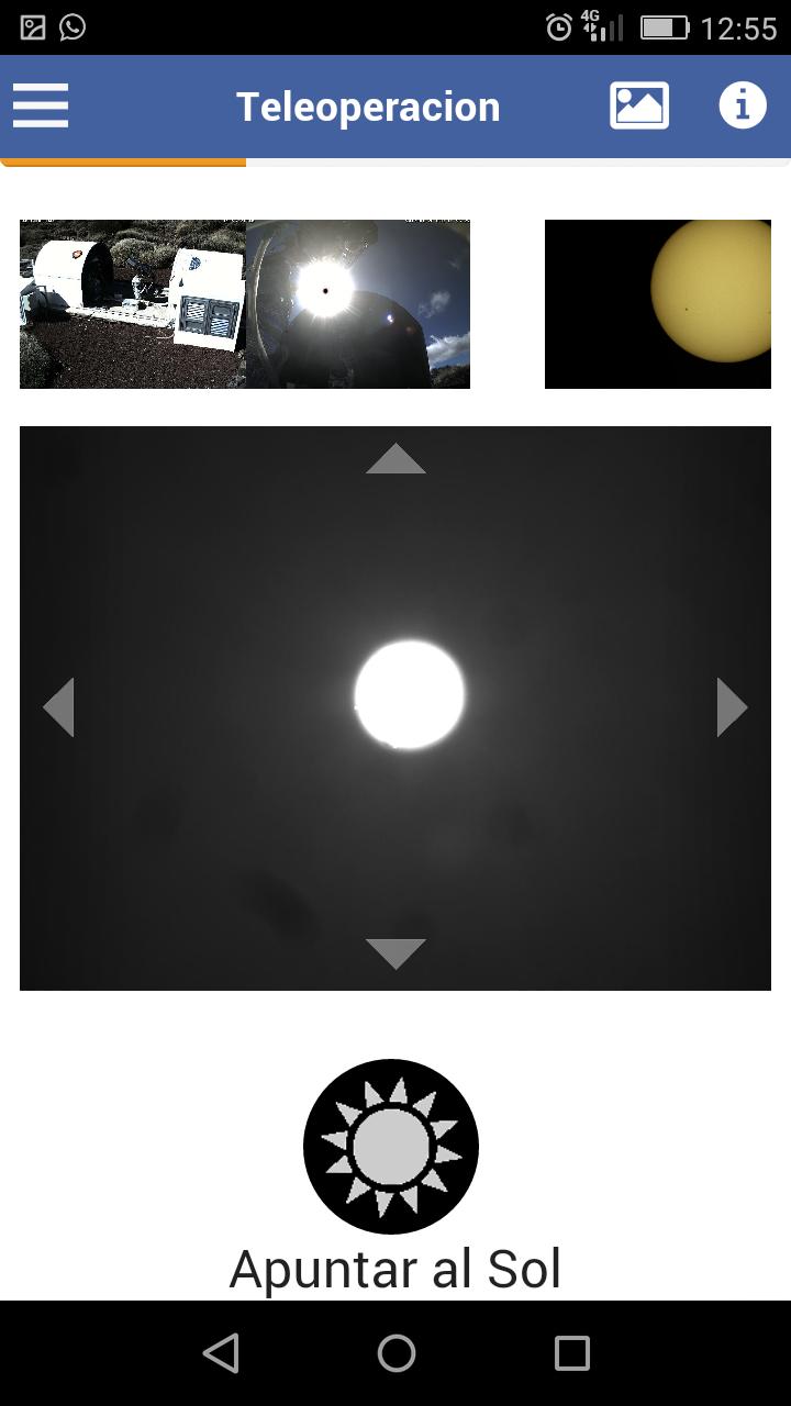 Teleoperación - Apuntando al Sol